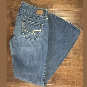 American Eagle Artist Distressed Boot Cut Jeans